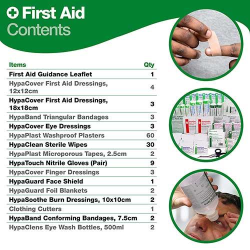 Evolution British Standard Compliant First Aid & Eyewash Kit, Medium 2