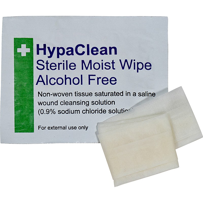 HypaClean Sterile Moist Wipes, Alcohol-Free (10 wipes)
