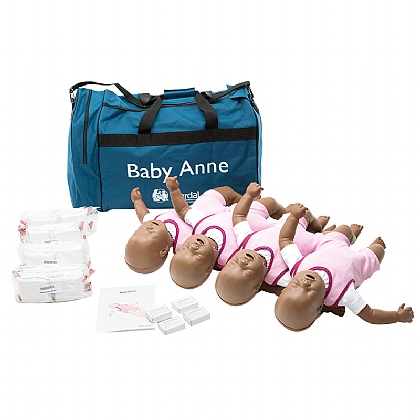 Laerdal Baby Anne Ethnic Skin Pack of 4
