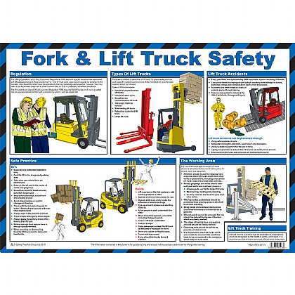 Fork & Lift Truck Safety Poster, Laminated