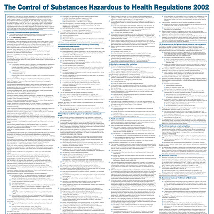 Control of Substances Hazardous to Health Regulation 2002, A1 Poster