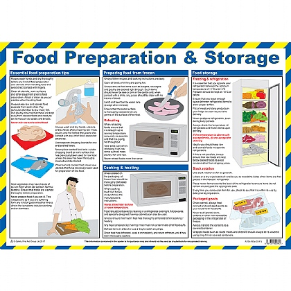 Food Preparation & Storage Poster, Laminated