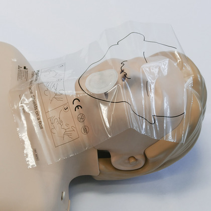 HypaGuard Training Manikin Resuscitation Face Shields on a Roll