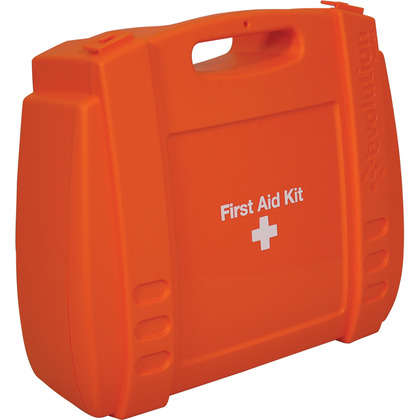 Large Evolution Orange First Aid Kit Case, Empty