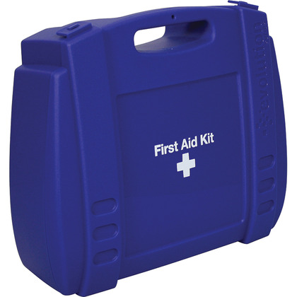 Large Evolution Blue First Aid Kit Case, Empty