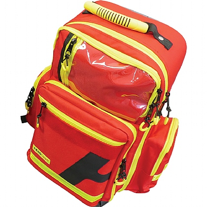 Emergency Backpack, Large, Polyester, Red