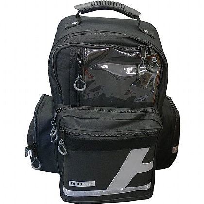 Emergency Backpack, Large, Polyester, Black