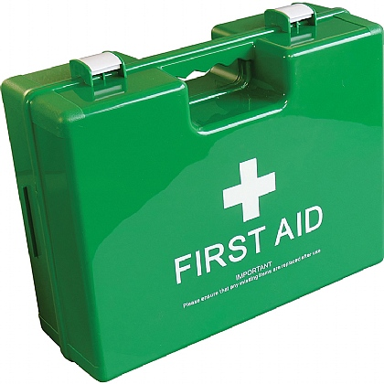 Large Deluxe Shatterproof ABS First Aid Case, Empty