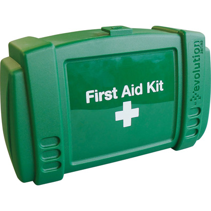Small Evolution Green First Aid Kit Case, Empty