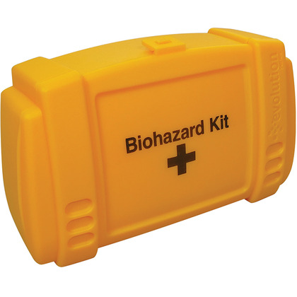Small Evolution Yellow Biohazard Kit Case, Empty