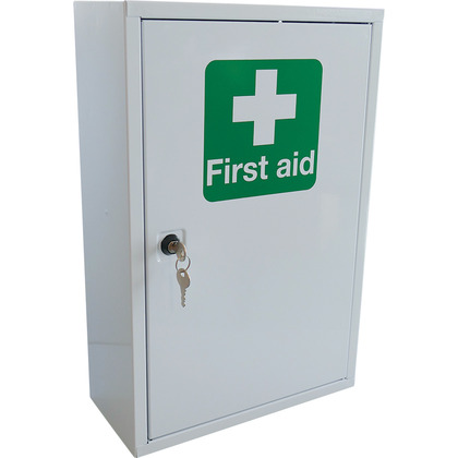 First Aid Metal Cabinet Single Door, Single Depth, Empty