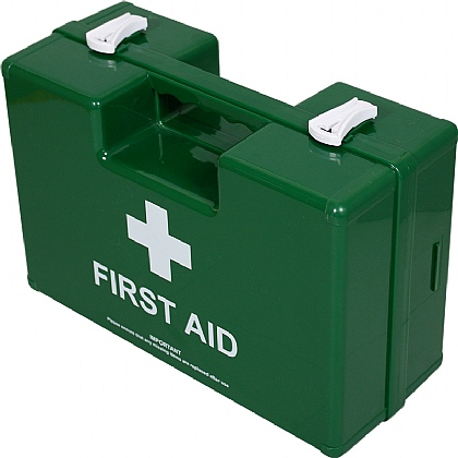 Small Deluxe Shatterproof ABS First Aid Case, Empty