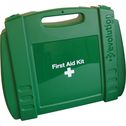 Large Evolution Green First Aid Kit Case, Empty
