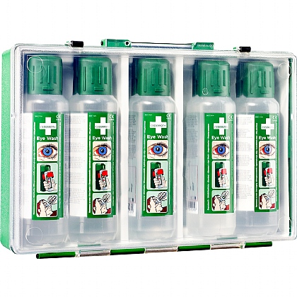Cederroth Eye Wash Case with 5x500ml Eye Wash Bottles