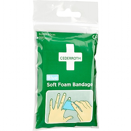 Cederroth Soft Foam Bandage, Blue (Pocket Size)