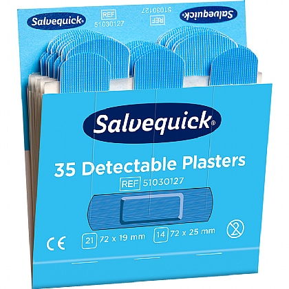 Salvequick Blue Detectable Plaster (Pack of 6)