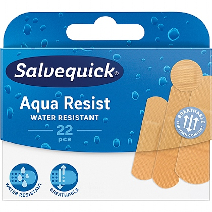Salvequick Aqua Resist, Water Resistant Assorted Plasters