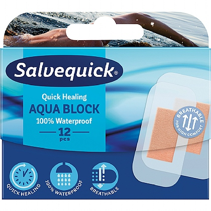 Salvequick Aqua Block Waterproof Assorted Plasters