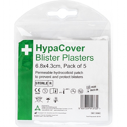 HypaCover Blister Plasters, Pack of 5