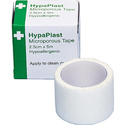 HypaPlast Microporous Tapes, 2.5cmx5m (Pack of 12)