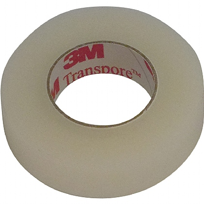 3M Transpore Surgical Tapes, 1.25cmx9.1m (Pack of 24)