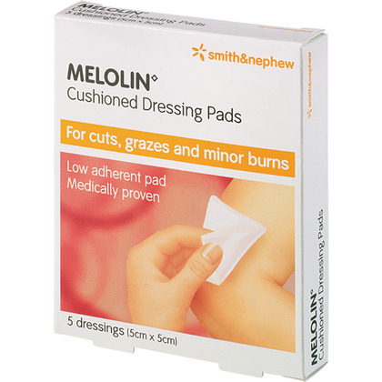 Melolin Dressings, 5x5cm, Pack of 5