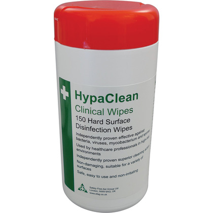 HypaClean Clinical Wipes, Tub of 150