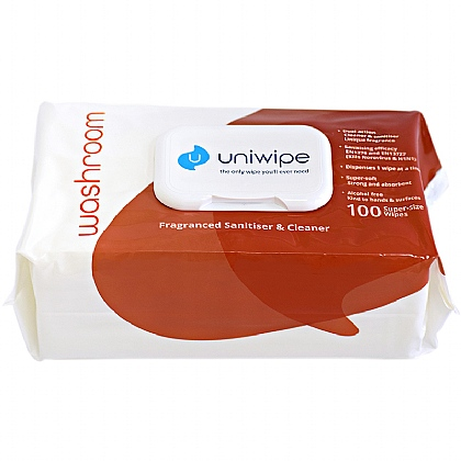 Uniwipe Washroom Disinfectant Wipes 100 XXL