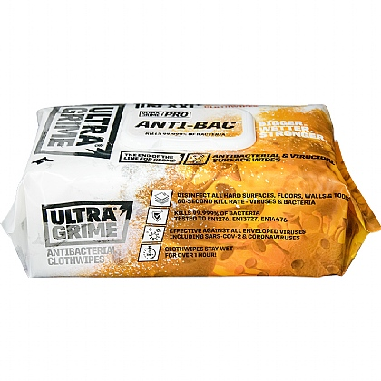 UltraGrime Pro Anti-Bac 100 XXL Clothwipes