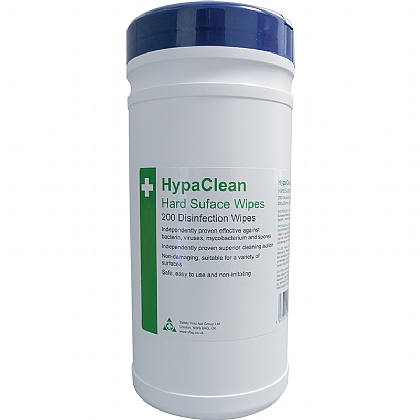 HypaClean Hard Surface Wipes, Tub of 200 (Pack of 12)