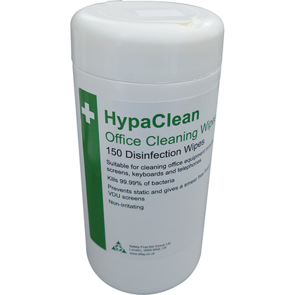 HypaClean Office Cleaning Wipes, Tub of 150
