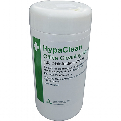 HypaClean Office Cleaning Wipes, Tub of 150 (Pack of 12)