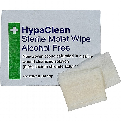 HypaClean Sterile Moist Wipes, Alcohol-Free (Box of 100 wipes)