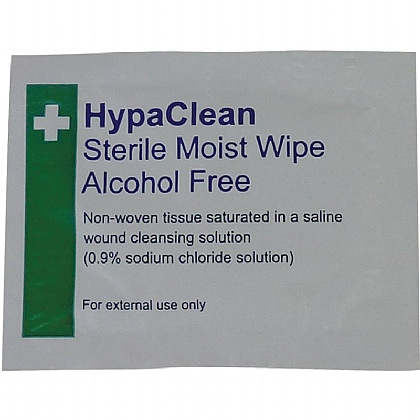 HypaClean Sterile Moist Wipe - single