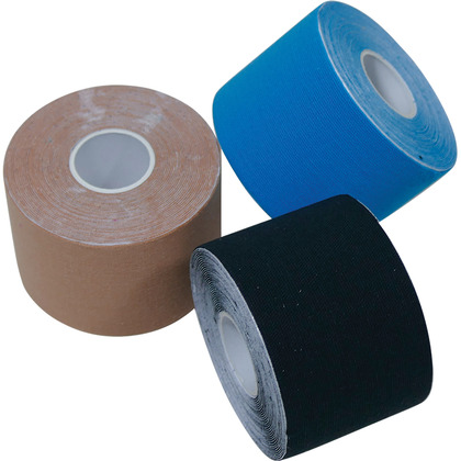 HypaPlast Kinesiology Tape, Black, 5cm x 5m