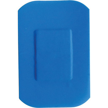HypaPlast Blue Catering Plasters, 7.2x5cm (Pack of 100)