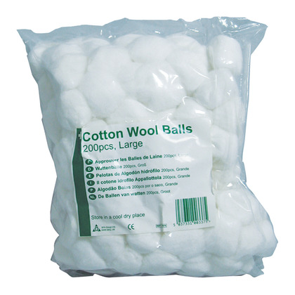 HypaCover Cotton Wool Balls, Large (Pack of 200)