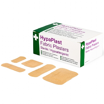 HypaPlast Fabric Plasters, Assorted (Pack of 100)