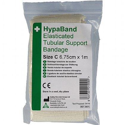 1m Tubular Support Bandage (C - Adult Hands), White
