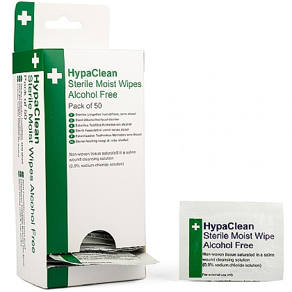 HypaClean Sterile Moist Wipe Dispenser (with 50 sterile moist wipes)
