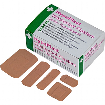 HypaPlast Pink Washproof Plasters, Assorted (Pack of 100)