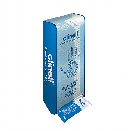 Clinell Wall Mounted Hand Wipe Dispenser - Single Unit