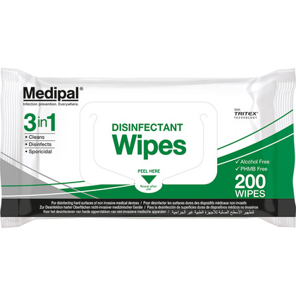 Medipal 3in1 Wipes, Pack of 200