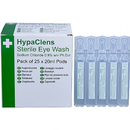 HypaClens Sterile Eyewash Pods (Pack of 25)