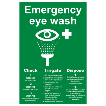Eyewash Sign 200x300mm (Rigid)