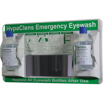 HypaClens 2x500ml Eyewash Station with 2 HypaClens Eyewash Bottles (500ml)
