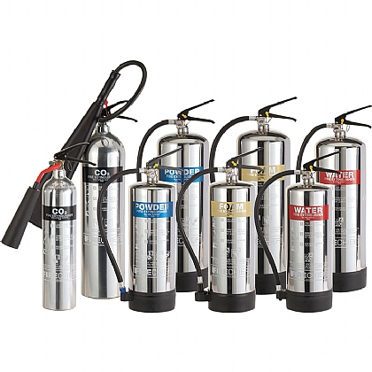 Stainless Steel Fire Extinguisher, CO2 (5 Litres)