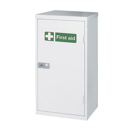Compact Metal Cabinet Locker, Empty