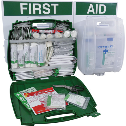 Evolution British Standard Compliant Eyewash & First Aid Point, Large