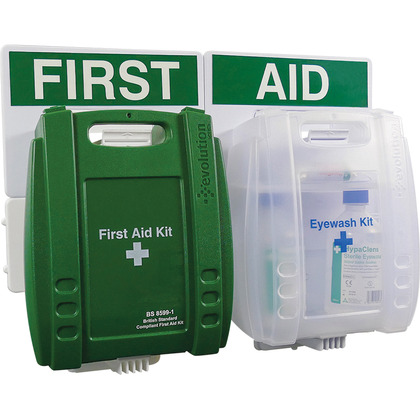 Evolution British Standard Compliant Eyewash & First Aid Point, Small